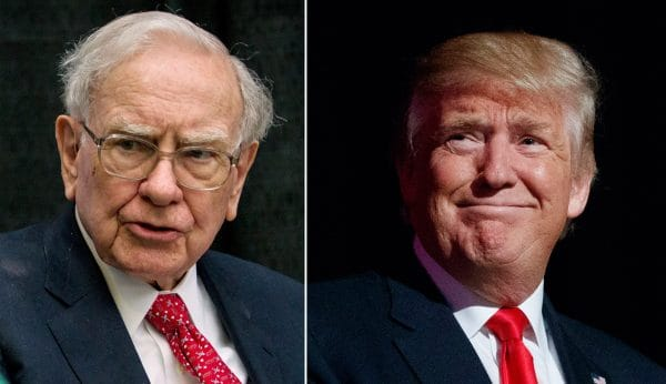 Warren Buffett và Donadl Trump.