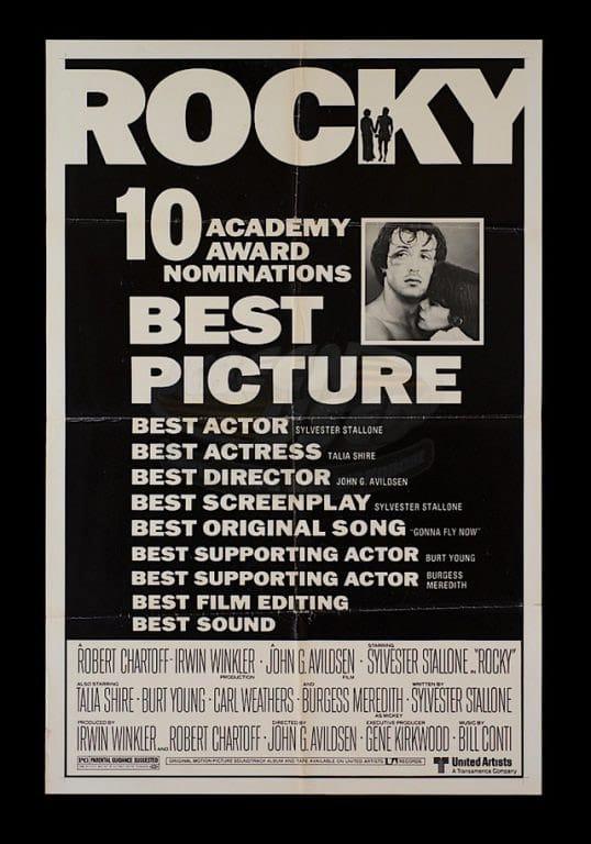 """Danh sách đề cử dài dằng dặc đã nói lên sự thành công của """"Rocky"""" thời bấy giờ"""