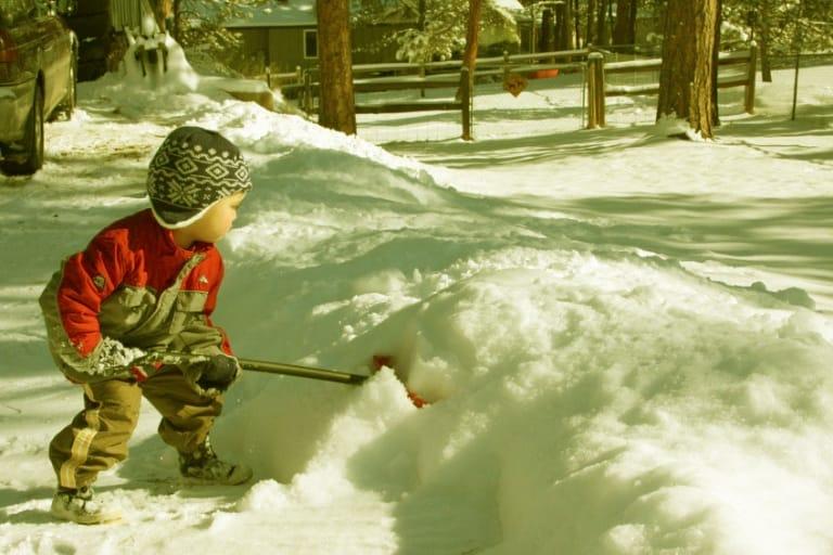 Cậu bé Edward Thorp dọn tuyết cho hàng xóm và thu được một khoản tiền khổng lồ gần bằng một nửa số tiền mà bố ông được trả cho mỗi ngày.