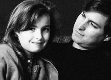 Steve Jobs và con gái Lisa Brennan-Jobs