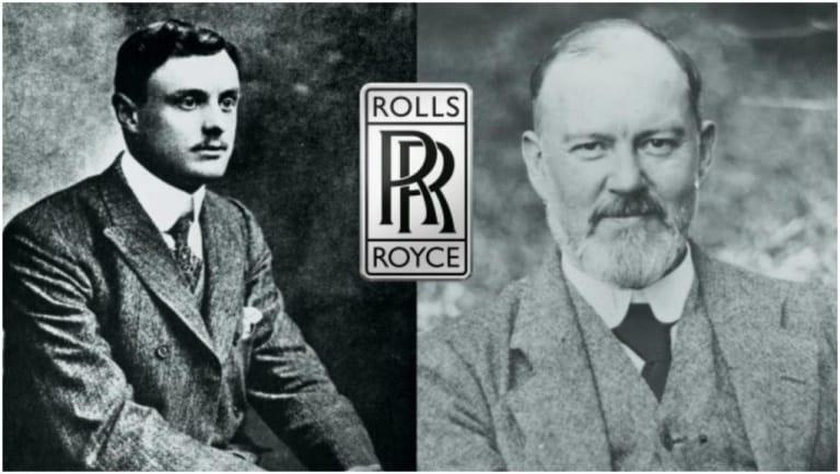 Charles Rolls (trái) và Henry Royce (phải)