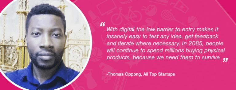 Thomas Oppong là nhà sáng lập, biên tập viên của Alltopstartups.com