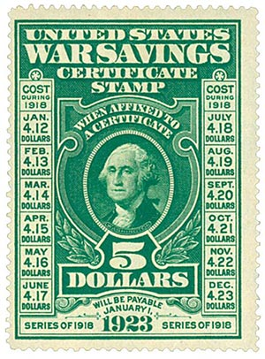 Tem tiết kiệm được chính phủ Mỹ phát hành những năm Chiến tranh thế giới thứ 2