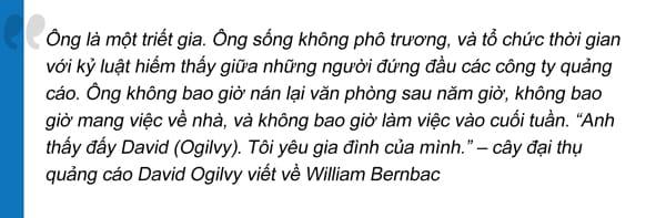 David-Ogilvy viết về William Bernbach.