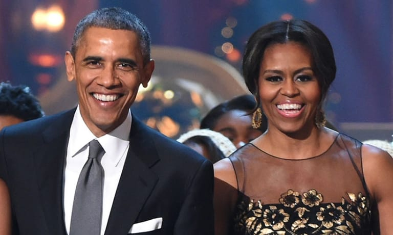 Cựu Tổng thống Mỹ Barack Obama và vợ