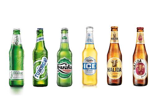 Carlsberg đã vươn mình trở thành một trong ba thương hiệu bia lớn nhất thế giới. Trong đó, Carlsberg Smooth Draught, Tuborg, Huda, Huda Ice Blast và Halida là những thương hiệu bia hiện được ưa chuộng tại thị trường Việt Nam