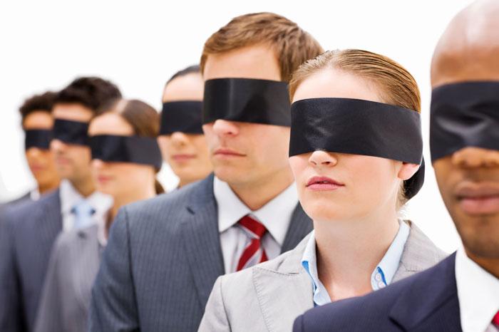hành động như người mù