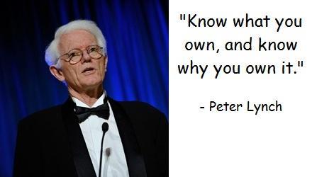 Biết những gì mình sở hữu và biết tại sao mình lại sở hữu nó - Peter Lynch