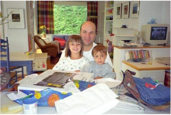 Kevin O'Leary và hai con lúc còn nhỏ.