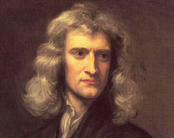 Hình vẽ Isaac Newton của Godfrey Kneller.