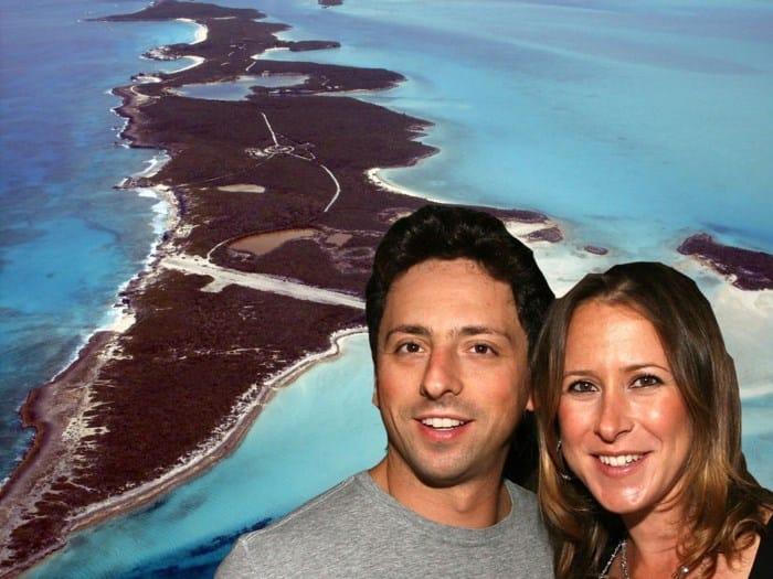 Sergey Brin và vợ