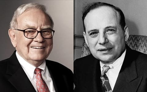 Benjamin Graham và Warren Buffett.