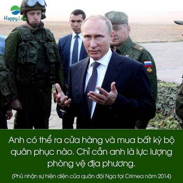 Tổng thống Putin và 10 câu nói đầy chất thép