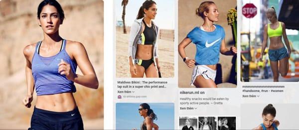 Đã từng có thời điểm, trang Pinterst của Nike chỉ được dùng để phục vụ các khách hàng nữ