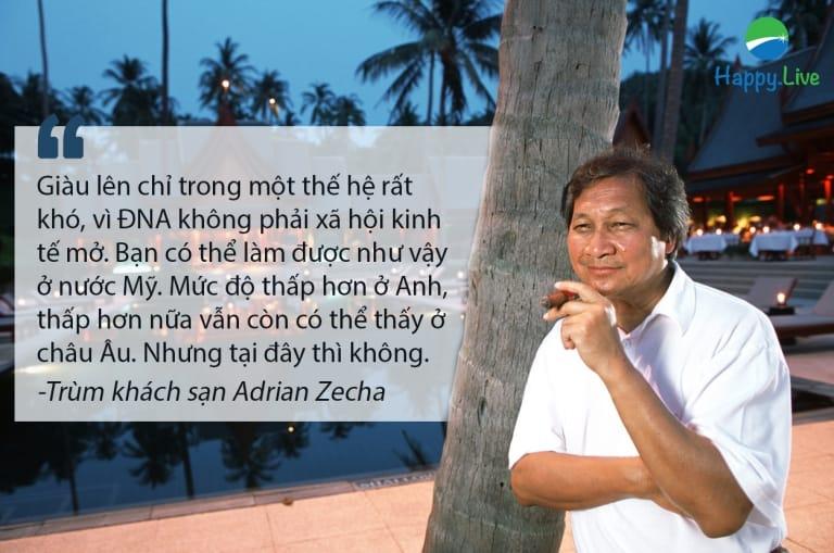 Adrian Zecha, một trùm kinh doanh khách sạn