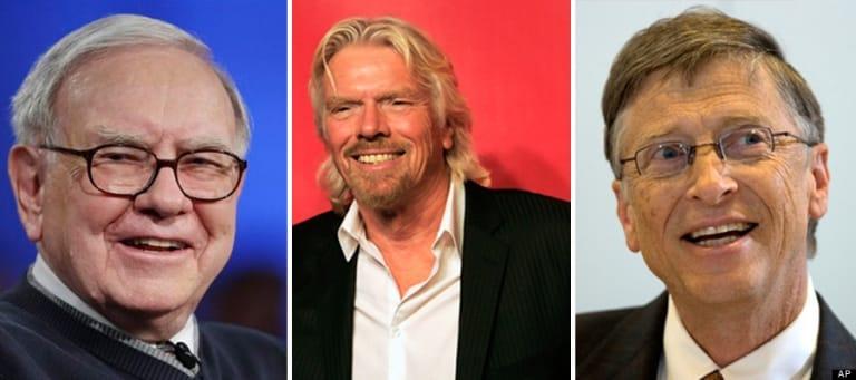 Cả ba tỉ phú đều cho rằng thành công liên quan đến tiền bạc. Thành công với họ liên quan đến hạnh phúc của bản thân và những người xung quanh.