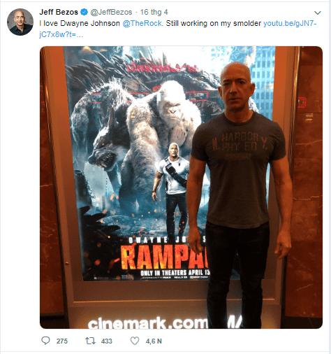 Jeff Bezos là một fan hâm mộ The Rock