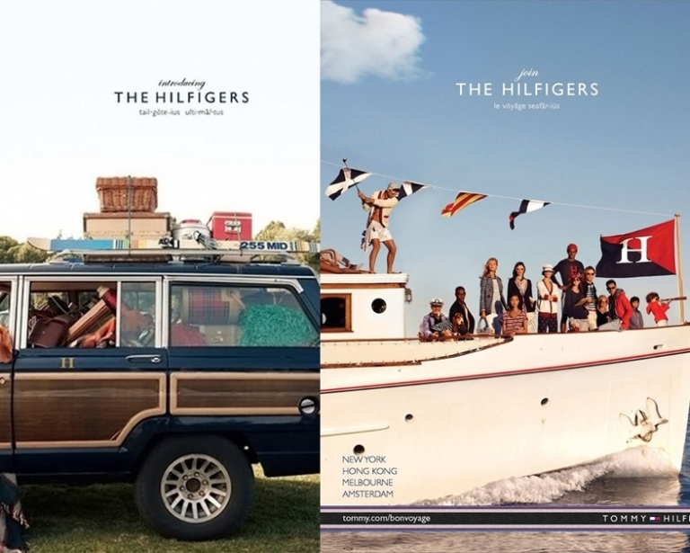 Poster quảng cáo bộ sưu tập Tommy Hilfiger thu đông 2010 và xuân hè 2013