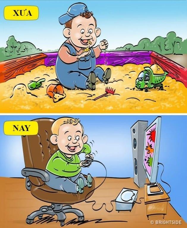 8 mẩu chuyện thể hiện sự khác biệt giữa trẻ em xưa và nay