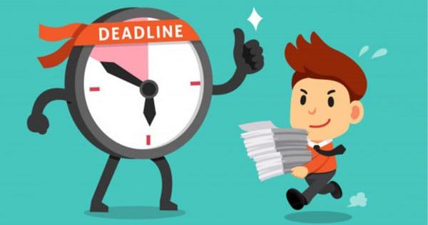đặt deadline cho mình