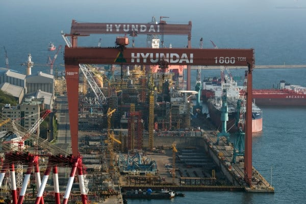 Nhà máy đóng tàu Hyundai tại Ulsan