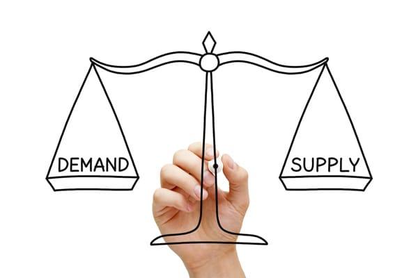 Khi thị trường xuất hiện mô hình dạng đường ngang, điều này chỉ ra rằng áp lực của cung và cầu trên thị trường là tương đối cân bằng.