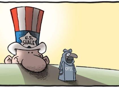 Cuối năm 2014, giá dầu bắt đầu giảm mạnh, buộc Hiệp hội các nước xuất khẩu dầu mỏ (OPEC) phải khởi động cuộc chiến giá để giành lại thị phần đã bị mất vào tay Mỹ và các nước sản xuất khác.