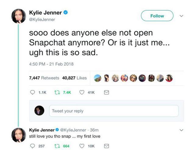 """Hotgirl mạng xã hội Kylie Jenner chê bai vài câu vì không hợp update mới, cổ phiếu Snapchat """"bốc hơi"""" luôn 1,5 tỷ USD"""