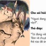 chó sói và thỏ
