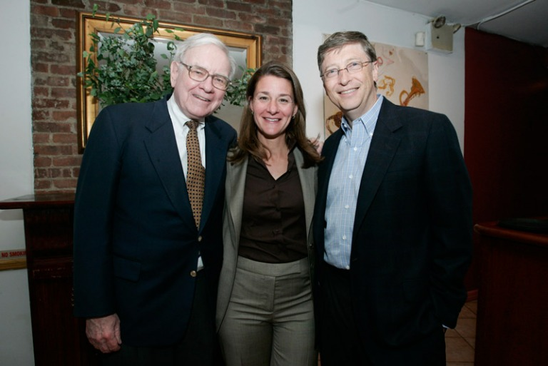 Bill Gates family and warren buffett
