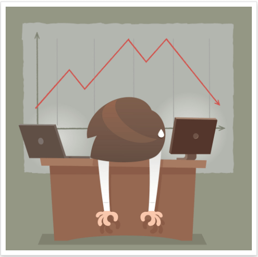 lo lắng khi thị trường sụp đổ