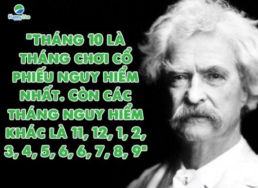 Đại văn hào Mark Twain - đau gì như thua lỗ chứng khoán
