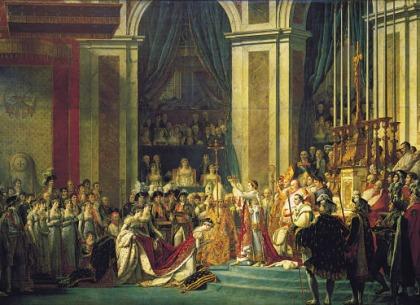 Toàn cảnh lễ đăng quang ngai vị Hoàng đế Pháp của Napoleon (1804).