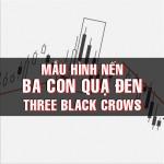CHỨNG KHOÁN ABC: Mẫu hình nến ba con quạ đen (Three black crows)