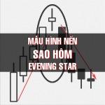 CHỨNG KHOÁN ABC: Mẫu hình nến Sao hôm (Evening star)