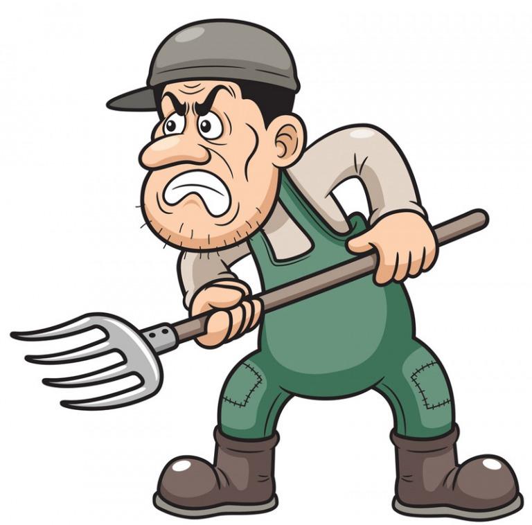 Máu, các mối quan hệ sứt mẻ đã không khiến những người nông dân dừng lại việc mình đang làm.