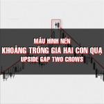 CHỨNG KHOÁN ABC: Mẫu hình nến khoảng trống tăng giá hai con quạ (Upside gap two crows)