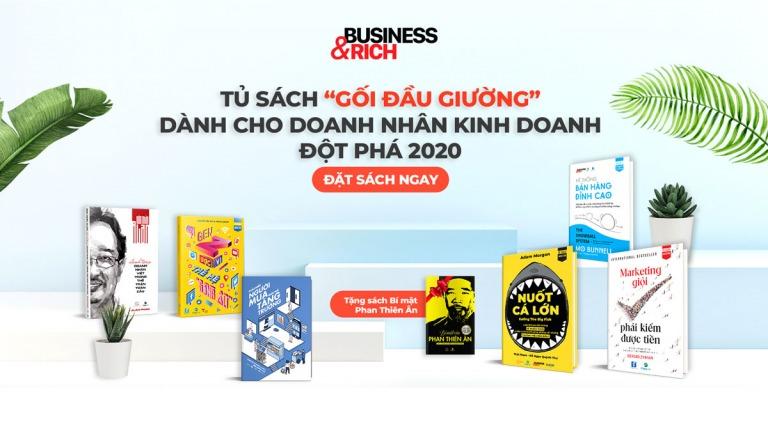 """Tủ sách """"Gối đầu giường"""" dành cho doanh nhân kinh doanh đột phá 2020"""