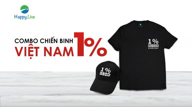 Combo Chiến Binh 1%: Áo 1% Club & Mũ 1% Club