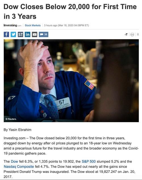 Điểm tin tài chính ngày 19/3/2020