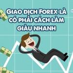 Giao dịch Forex là có phải cách làm giàu nhanh chóng???