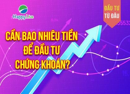ĐẦU TƯ TỪ ĐÂU: Cần bao nhiêu tiền để đầu tư chứng khoán?