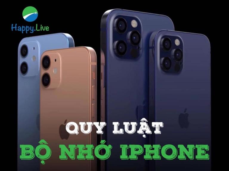 Quy luật bộ nhớ Iphone!